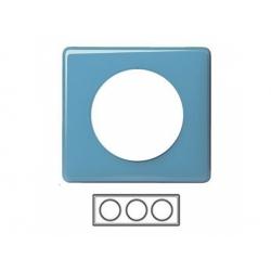 3-rámik, lesklá modrá