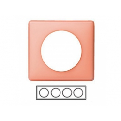 4-rámik, ružová matná