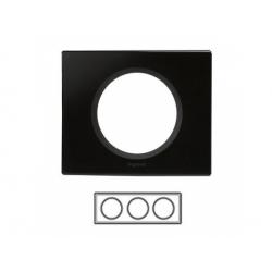 3-rámik, sklo čierne
