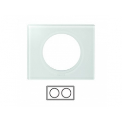 2-rámik, sklo biele