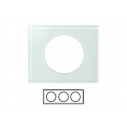 3-rámik, sklo biele