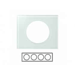 4-rámik, sklo biele