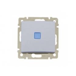 770125 Valena vypínač č.6 so signalizačným osvetlením, hliník