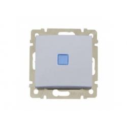 770126 Valena vypínač č.6 s orientačným osvetlením, hliník