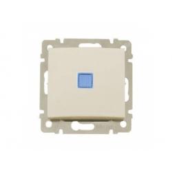 774310 Valena vypínač č.1 s orientačným osvetlením, béžová