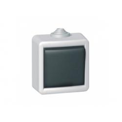 091610 vypínač č.7 IP55, sivý