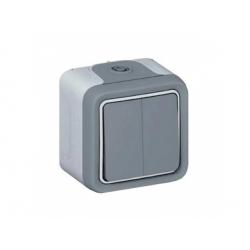 069715 vypínač č.6+6 IP55, sivý