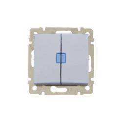 770212 Valena vypínač č.5B s orientačným osvetlením, hliník