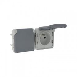 069562 2-zásuvka IP55, sivá
