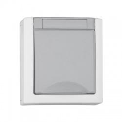 EV211005 zásuvka na omietku, IP54, sivá