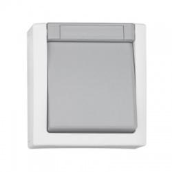 EV210011 vypínač č.6 na omietku, IP54, sivý