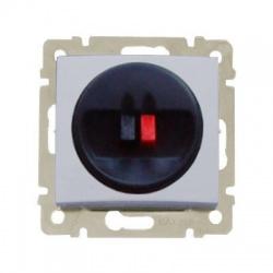 770223 Valena jednoduchá reproduktorová zásuvka, hliník
