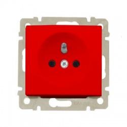 770090 Valena zásuvka nezámenná, 16A, červená