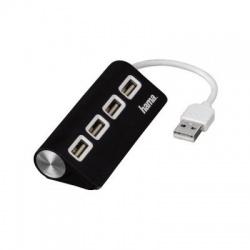 12177, USB 2.0 hub, 4-porty, čierny