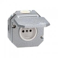 5518-2750 zásuvka nástenná IP55, sivá