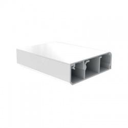 LP 80x25 HD lišta podlahová, 2m, biela