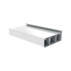 LPK 80x25 HD lišta podlahová, 2m, biela