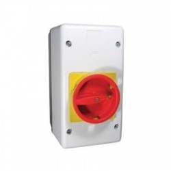 MLPEE55G-E izolovaný kryt, uzamykateľný, červeno-žltá páčka, IP55