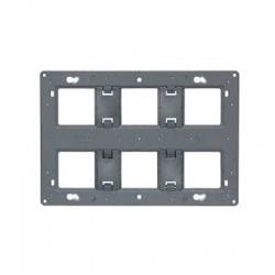 80266 montážna doska pre 2x6 alebo 8 modulov