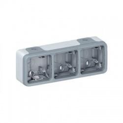 069680 3-krabica IP55, sivá