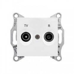 SDN3301621 TV-R zásuvka, 1dB, koncová, biela