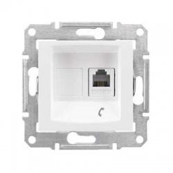 SDN4101121 1xRJ11 telefónna zásuvka, biela