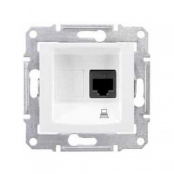 SDN4300121 1xRJ45 UTP Cat.5E zásuvka, biela