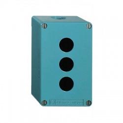 Liatinová prázdna skrinka, 3 otvory, IP65, modrá