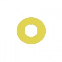 Okrúhly štítok pre núdzové tlačidlo, bez popisu, žltý