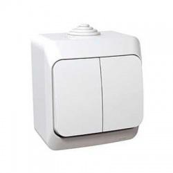 Vypínač č.5So s kontrolkou na omietku, IP44, biely