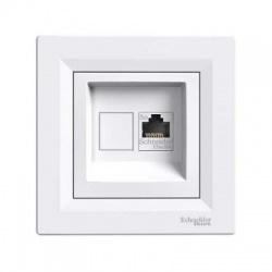 EPH4300121 1xRJ45 UTP Cat.5E zásuvka, biela