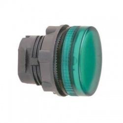 Krycia hlavica LED objímky, zelená