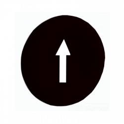"""Hmatník so symbolom """"šípka"""", čierny"""
