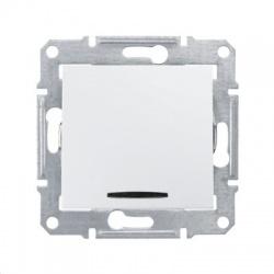 SDN1500121 vypínač č. 6 s modrou orientačnou kontrolkou, biely