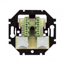 5013U-A00152 prístroj 2xRJ45 zásuvky, priebežný