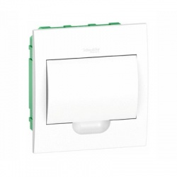 1x8 modulov, IP40, zápustná rozvodnica, biele dvere