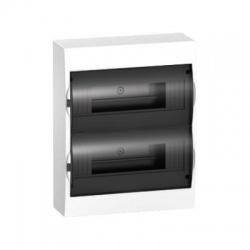 2x12 modulov, IP40, nástenná rozvodnica, priehľadné dvere