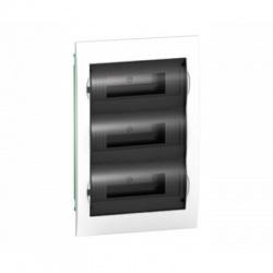 3x12 modulov, IP40, zápustná rozvodnica, priehľadné dvere