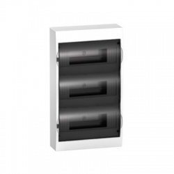 3x12 modulov, IP40, nástenná rozvodnica, priehľadné dvere