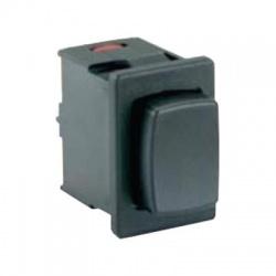 Tlačidlový prepínač, 250V/16(4)A, OFF-ON, čierny