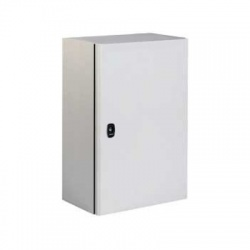 500x400x250 oceľoplechová skriňa plné dvere s montážnym panelom, IP66
