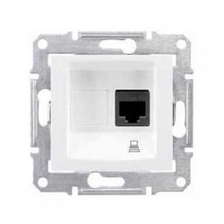 SDN4900121 1xRJ45 STP Cat.6 zásuvka, biela