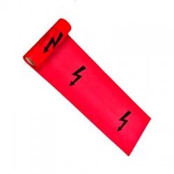330x0,10 výstražná fólia s bleskom, červená