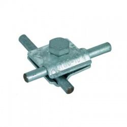 Univerzálna svorka MV kruhový vodič 2xRd 8-10mm, nerez V4A