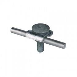 Príchytka so skrutkou M10 s polguľatou hlavou a maticou a otvorom 11mm Rd 6-10mm, FeZn