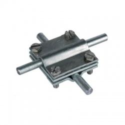 Krížová svorka so stredovou doštičkou kruhový vodič Rd 8-10 pásovina FI 30, FeZn