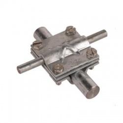 Krížová svorka so stredovou doštičkou kruhový vodič Rd 8-10/16 pásovina FI 30, FeZn