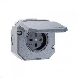 5515N-C05754 440V zásuvka nástenná IP55, sivá