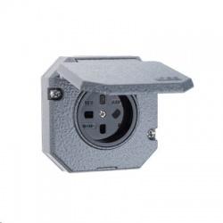 5515N-C05764 440V zásuvka zapustená IP55, sivá