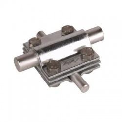 Krížová svorka so stred. doštičkou kruhový vodič Rd 8-10/16 pásovina FI30, nerez V4A